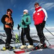Friends at the ski resort - Stock Photo