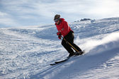 Mountain skiing — Stock Photo