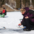 Stock Photo: Winter fishing