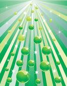 Green spheres — Stock Vector