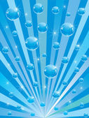 Sparkling blue spheres — Stock Vector