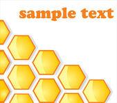 Background. Honey honeycombs — Stock Vector