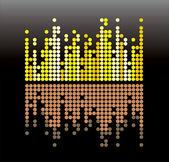 Sound wave — Vector de stock