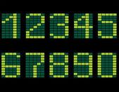 The green digital display — Stock Vector