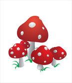 The mushroom — Stock Vector