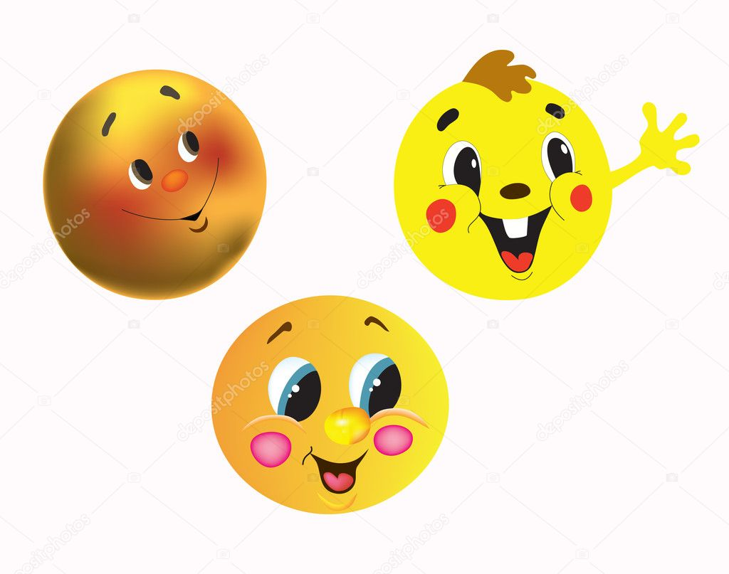 Round cheerful characters for cartoon films — Stock Vector #4962171