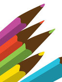 Color pencils — Vetorial Stock