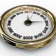 Stock Photo: Clock with numbered years. 3D