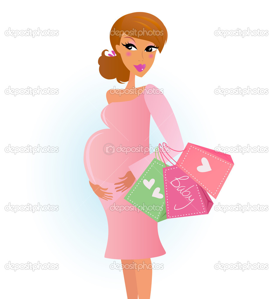 Pregnant Mom Cartoon
