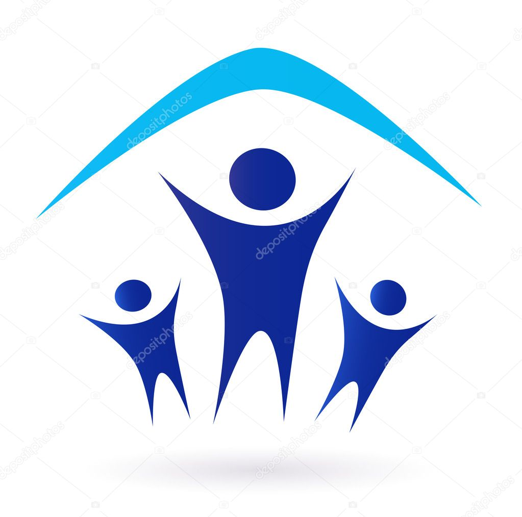Family under one roof pictogram. Vector Icon inspired by , family and togetherness.  Imagens vectoriais em stock #4228422