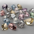 Colorful diamonds collection - Stock Photo