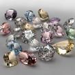 Colorful diamonds collection — Stock Photo