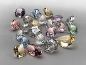 Colorful diamonds collection — Stock Photo