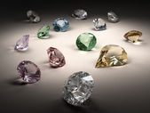 Diamonds collection — Stock Photo