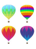 Four hot air balloons — Stock Photo