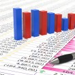 Foto de Stock  : Spreadsheet and pen