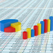 Stock Photo: Spreadsheet with graph