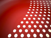 Red perforated surface — Stock Photo