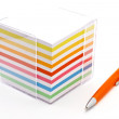 Block of colorful note papers — Stock Photo #5086631