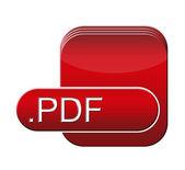 Symbol pliku pdf — Zdjęcie stockowe