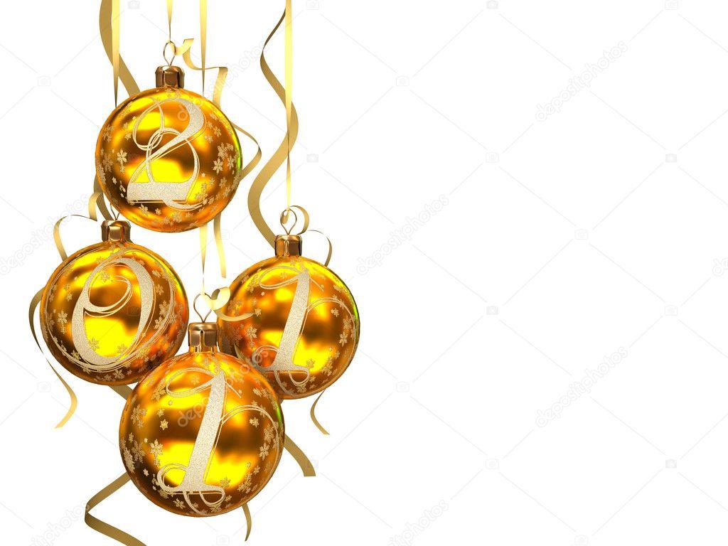 White Christmas Background Christmas Balls 2011 on White