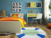Interior of the modern childroom — Stock Photo