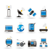 Communication and technology icons — Stock Vector