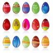 Royalty-Free Stock Vector Image: Easter egg icons