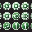 Music and sounds icons - Image vectorielle