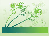 Spring background with leafs — Stock Vector