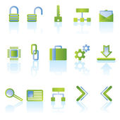 Reflect security icons — Stock Vector