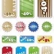 Promotion Shopping Marks and labels — Stock Vector