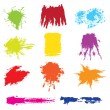 Set of grunge brush vector — Stock Vector #4987970