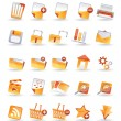 Stock Vector: 25 Detailed Internet Icons