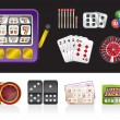Casino and gambling tools icons - Stock Vector