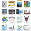 Bank, business, finance and office icons — Stock Vector #4989541