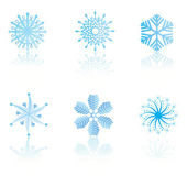 Beautiful cold crystal gradient snowflakes — Stock Vector