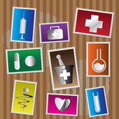 Tıbbi ve healtcare simgeler — Stockvector