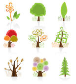 Tree Collection icon — Stock Vector