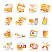 16 Detailed Internet Icons — Stock Vector