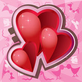 Valentine Love Background — Stock Vector