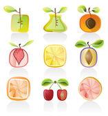 Streszczenie owoców ikony — Wektor stockowy