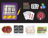Casino and gambling tools icons — Stock Vector