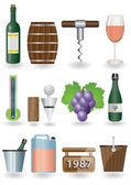 Drink and Wine icons — Stock Vector