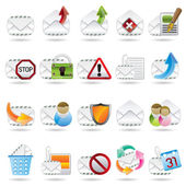 Mail Vector and Letter Icons — Stock Vector