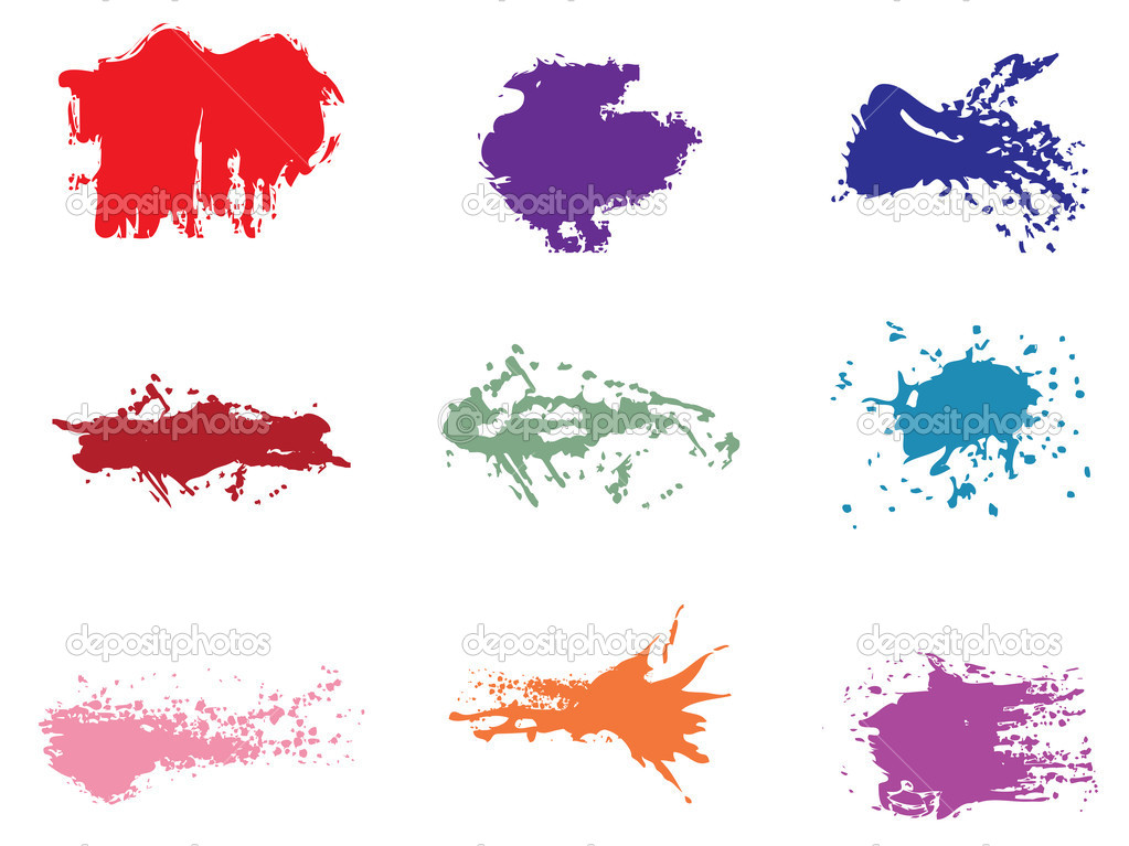 Set of grunge vector — Stock Vector #4987978