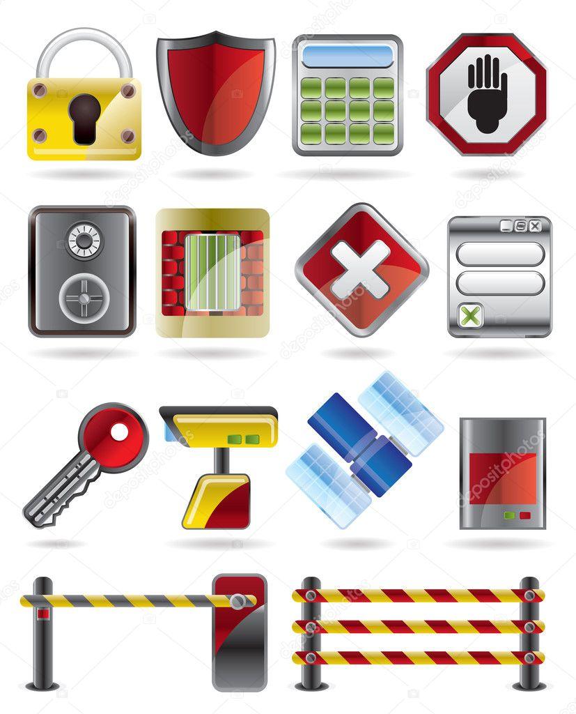 安全和业务图标-矢量图标集 — 矢量图片作者 stoyanh