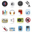 Royalty-Free Stock Vector Image: Music and sound Icons