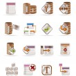 Database and table icons - Stock Vector