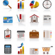 Business and Office Realistic Internet Icons - Stock Vector
